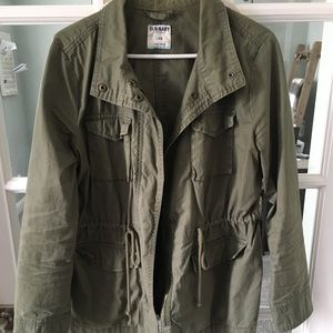 Women's army green utility jacket